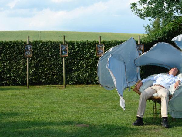 blaue blume installation cocoon gabriele juvan